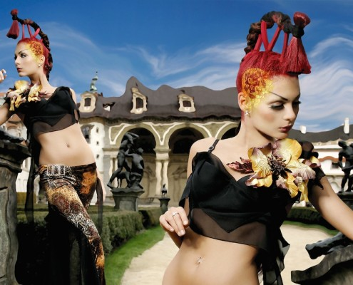 Editorial Hair and Makeup by Petr Vackar for Josef Klir Calendar 2006, Prague, Czech Republic