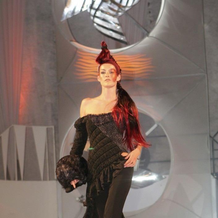 Fashion Hair and Makeup Artist Petr Vackar for Josef Klir Anual Show 2005, Czech Republic, Prague